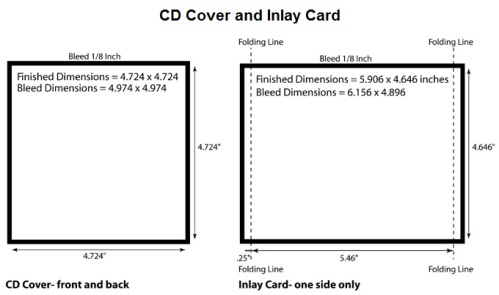 cd cover template size