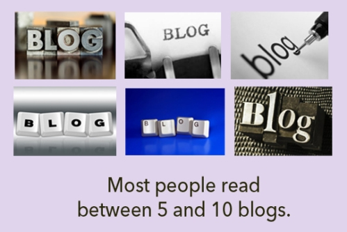 Most people read between 5 and 10 blogs.