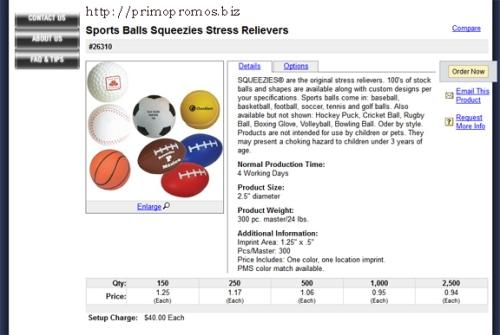 squeeze balls from PrimoPromos.biz