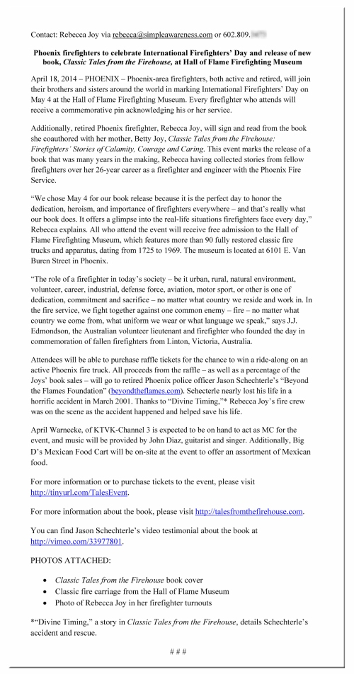 Microsoft Word - Beckie May 4 news release
