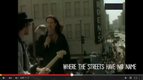 songs - where the streets have no name