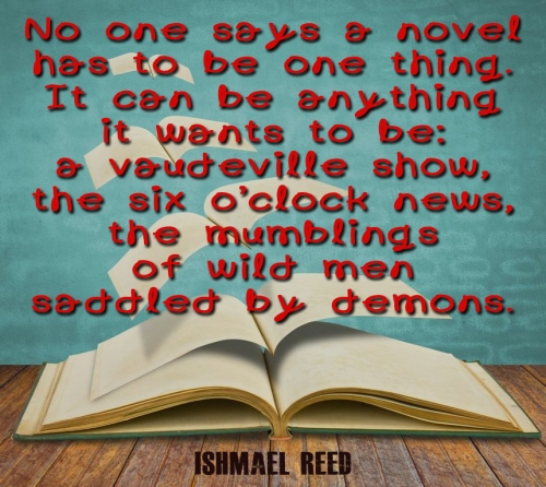 novel can be anything quote
