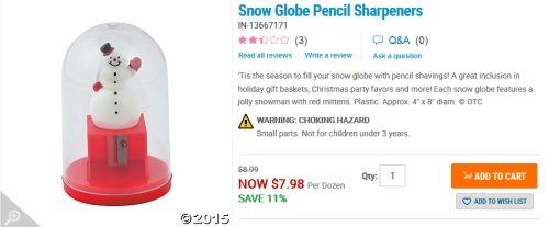 sharpener snow globe