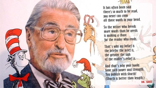 Dr Seuss on keeping it brief